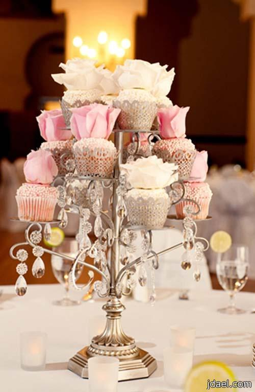 Cvhristmas Table Center Piece Using Cake Stand With Dome