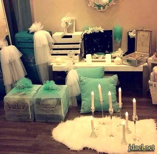 صور افكار وتزيين شنط دبش العروسه بالوان ناعمه
