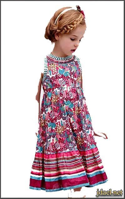 فساتين قصيره للبنات اطفال واحلى ملابس الصيف