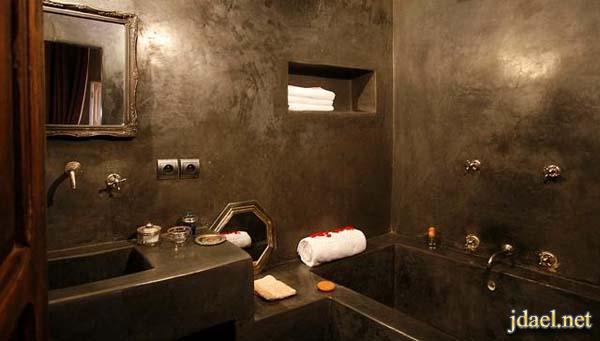 ديكور حمامات مغربيه فخمه لبيوت التمليك الكبيره