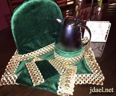 تلبسات ابريق الشاي وثلاجة القهوه ومفارش صواني الضيافه - منتدى جدايل