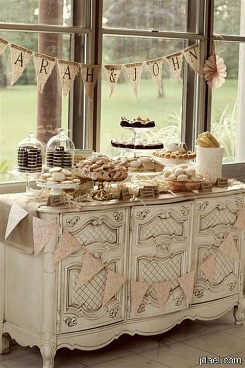 تزيين طاولات الحلويات والسكاكير والكب كيك بافكار روعه بالصور