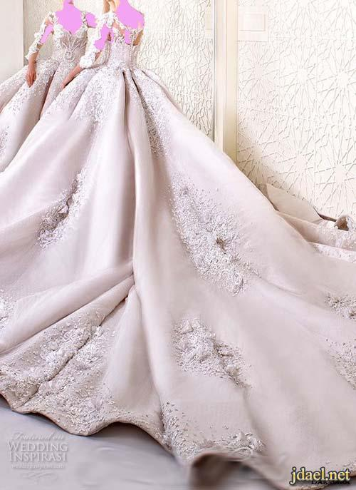 فساتين زفاف فخمة تطريز روعة لمصممة الازياء جومانه الحايك دار