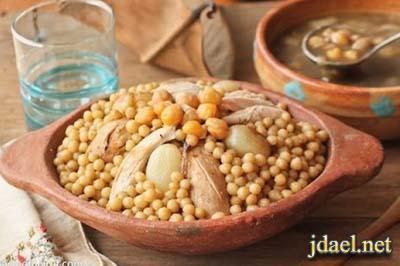 مغربيه لبنانيه بالدجاج المطبخ اللبناني