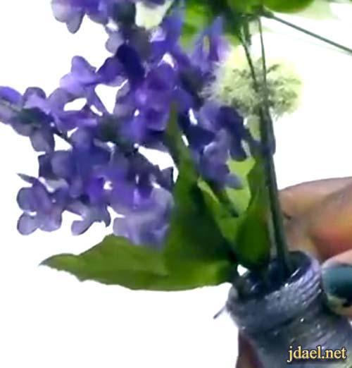 ابداع ديكوباج الزجاج تزيين القوارير بافكار اعادة تدورير روعة بالديكوباج