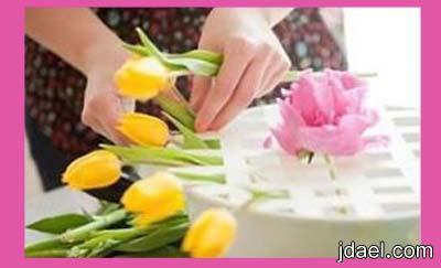 تنسيق الورد والزهور الطبيعيه البيت بيدك باسهل واجمل فكره بالصور