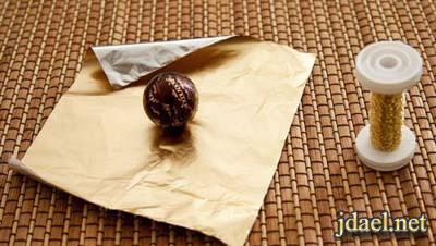 طريقة تزيين الشوكولاته باقة ورد عمل يدك بالصور