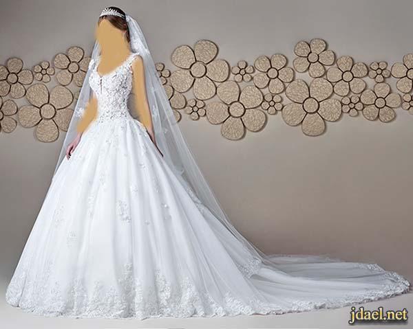 فساتين ملكيه لاناقة العروسه ليلة الزفاف