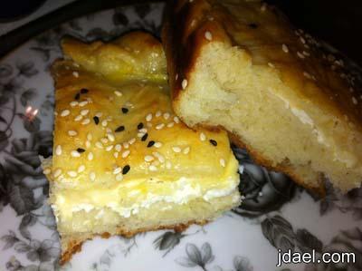 فطيرة بالجبن الابيض والجبنه الصفراء كرفت