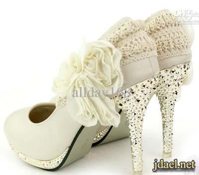 احذية للعروسة ليلة زفافها