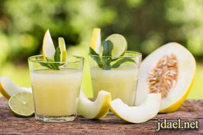 عصير شمام بالزنجبيل لانقاص الوزن بطعم لذيذ