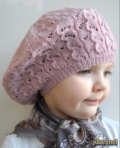 قبعات كروشيه اطفال للبنات وللاولاد بالوان وغرز شيك