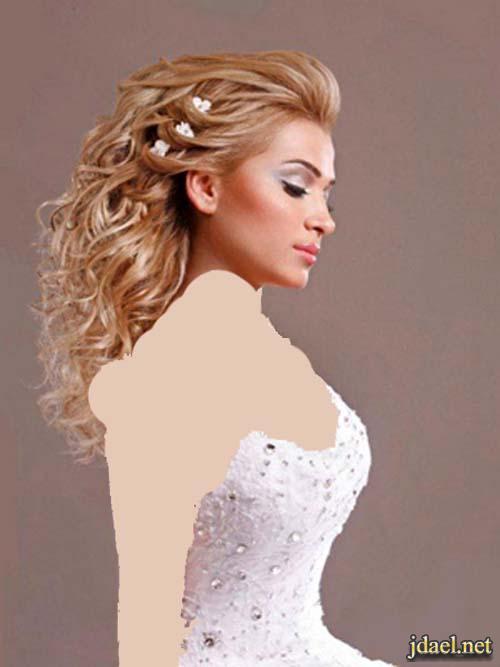 صور اروع تسريحات الشعر المفتوح لعروسة الموسم
