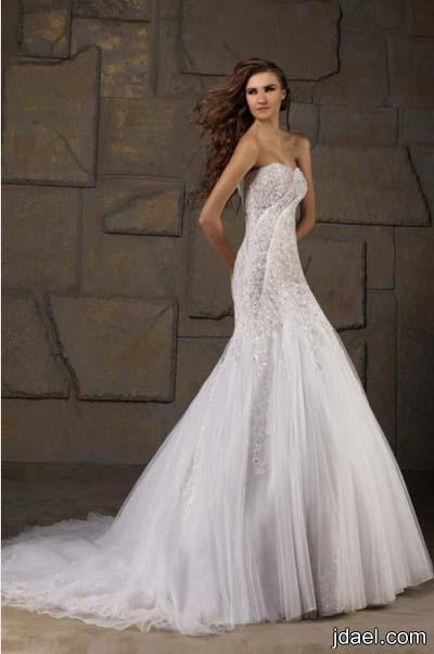 فساتين زفاف للعروسه بالدانتيل تخفي عيوب منطقة الارداف