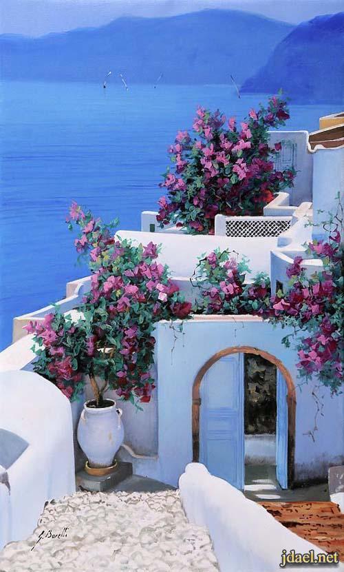 صور بيوت بالوان وطبيعة جذابة الواقع واخرى برسم اليد