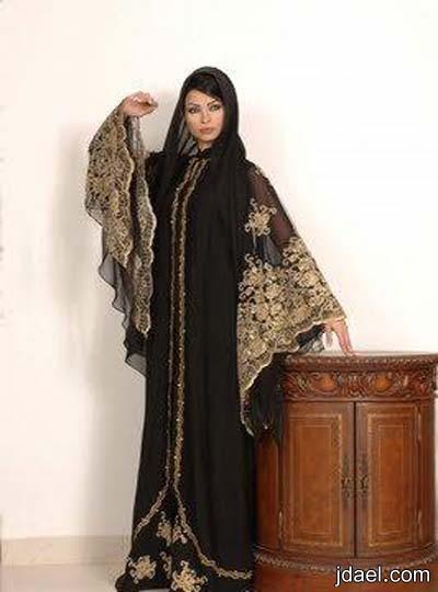 موديلات عبايات خليجيه للسهرات تصميم عباية الحجاب الخليجي للمناسبات
