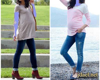 ملابس حمل شيك 2017 للمرأة الحامل وطلة انيقة للحوامل