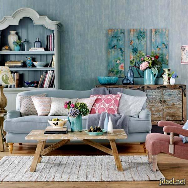 ديكور غرف جلوس دمج الالوان غرفة المعيشه بالصور