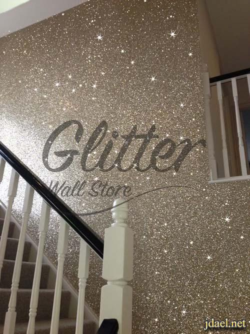 ديكور جليتر للتصميم الداخلي دهانات جليتر لامعة باللون الفضي والذهبي