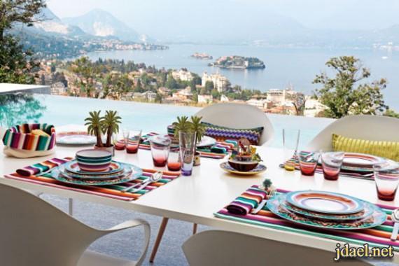 ديكورات مائدة جديدة وراقية من ميسوني هوم الايطالية