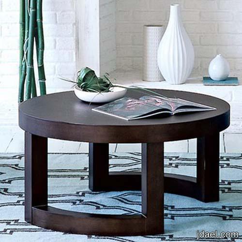 طاولات غرف المعيشه والجلسه بتصاميم عصريه الخشب