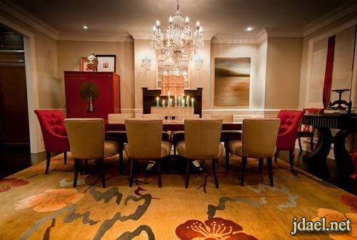 ديكور غرف طعام باناقة المودرن فخامة الكلاسيك والوان جريئه