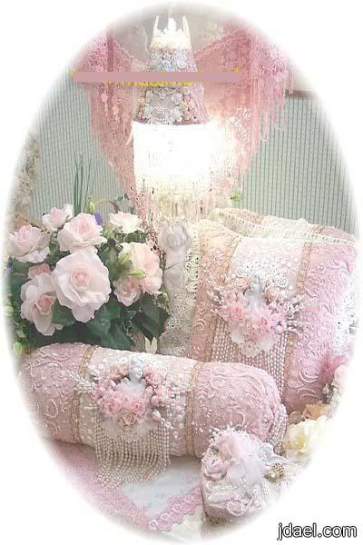 طرزي اغراض غرفتك بتطريز خيال على قماش التل الدانتيل