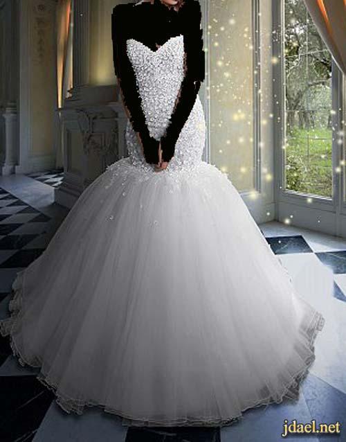 فساتين اعراس للعروسه مشغوله على الدانتيل للمصمم ربيع ادريس