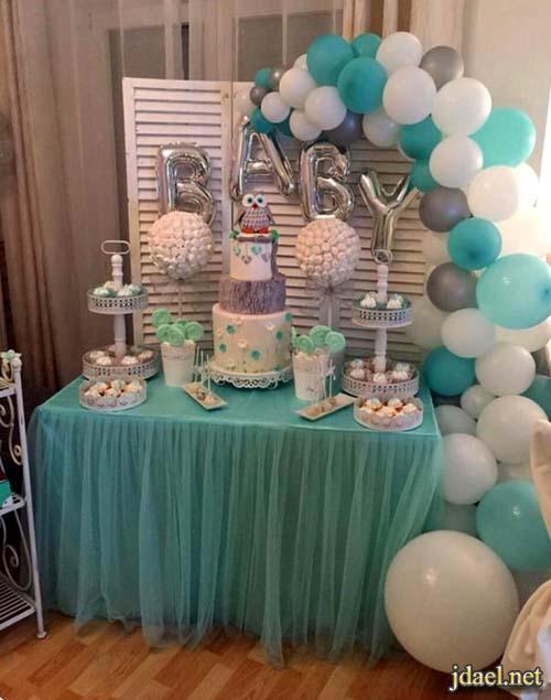 افكار راقية لتصميم طاولات استقبال وضيافة وهدايا مابعد الولادة