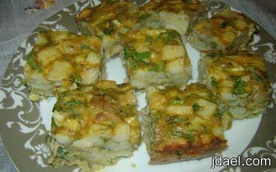 تحضير طاجين البطاطس بالجبن بالطريقه الليبيه مقبلات ساخنه