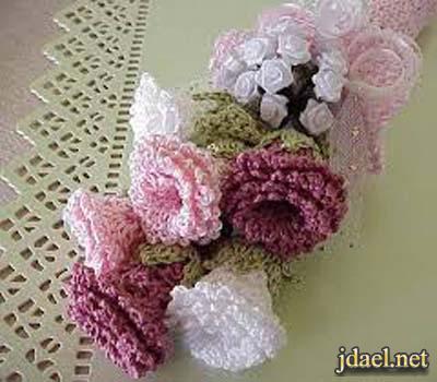 موديلات الورد بالكروشيه بغرز روعه بالصور