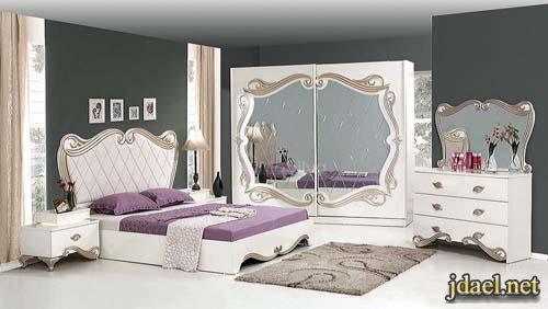 غرف نوم تركي باللون الابيض ديكورات غرف نوم كلاسيك تركية