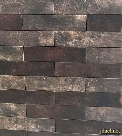حجر جدران داخلي بالوان كلاسيك اسود رصاصي رمادي بني