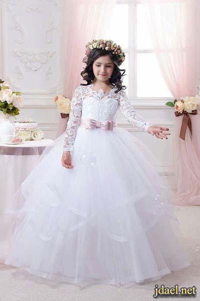 670e8f91ce4d5 اروع فساتين اعراس للبنات الاطفال . فساتين زفاف للبنوتات - منتدى جدايل