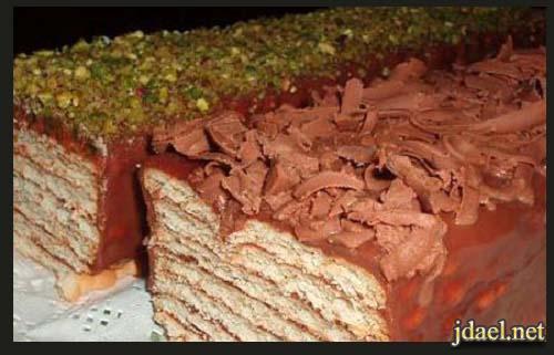 حلى طبقات البسكوت وخليط شوكولاتة بيتي بيدك