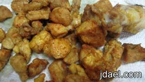 تحضير طبخة حامض حلو بقطع الدجاج والخضار باسرع وقت