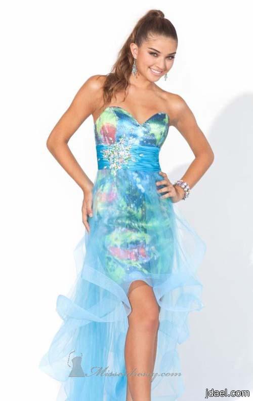 احدث ازياء السهرات موديلات جديده من الفساتين المطرزه بتطريز منوع