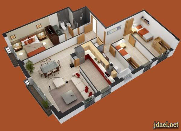 تصاميم شقق صغيره بيوت تمليك غرف نوم بتصميم روعه