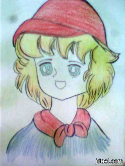 رسومات بنات انمي بنوته موهوبه رسم شخصيات انمي