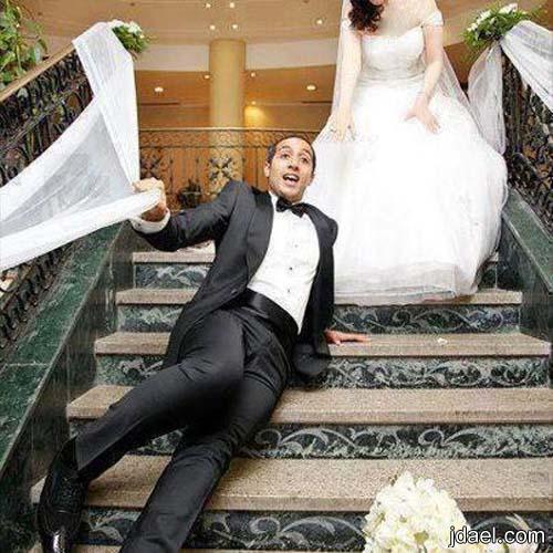 نكته بانواع الضحك صوره وموقف ليلة الزفاف زواجه مهببه اولها