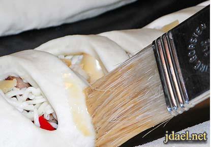 فطاير بالدجاج والخضار وشرائح الجبن بالطريقه الايطاليه