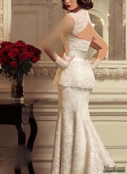 فساتين زفاف فخمه للعروسه بموديلات الزمن الجميل