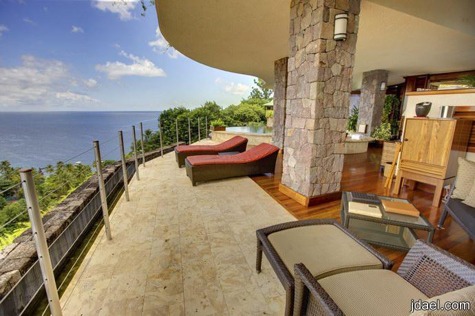 الاستجمام بمنتجع الشرفه السماويه المطل على بحر الكاريبي شمال امريكا
