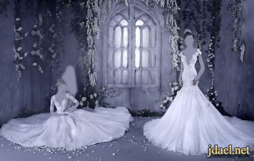 فساتين زفاف دانتيل تطريز ترتر وخرز للعروسه السعوديه والخليجيه