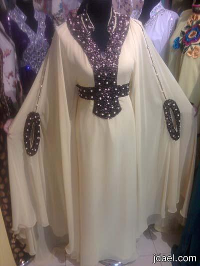 ازياء محجبات بموديلات الجلابيات المطرزه من الشيفون والحرير للسهرات