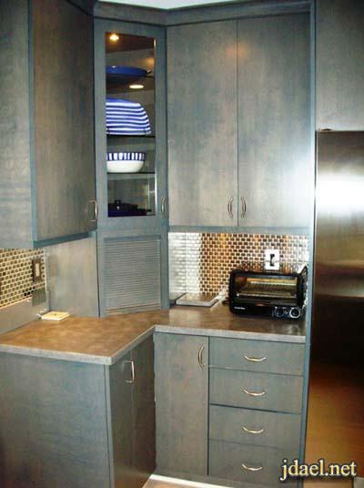 ديكور استغلال زوايا المطابخ بتصاميم مبتكرة في خزائن المطبخ