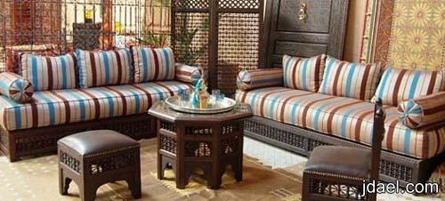 ديكورات قمة الجمال الطراز المغربي للمجالس وموديلات الكنبات