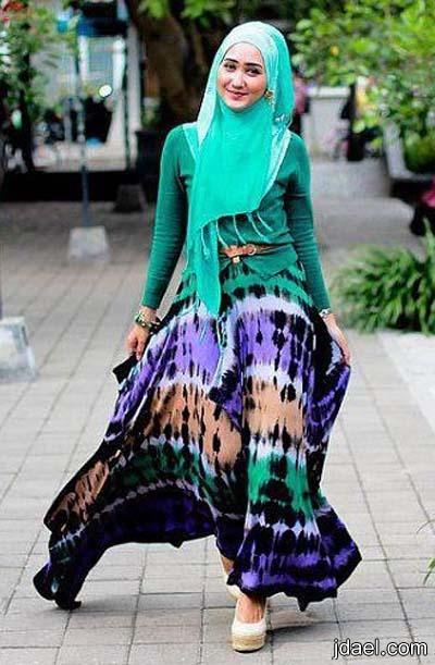 اناقة المحجبه بملابس الحجاب بموضه عصريه للمحجبات
