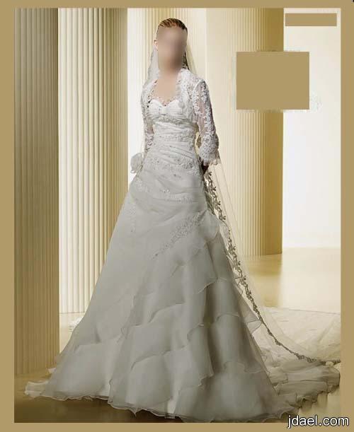 فساتين زفاف عرايس 2013 موديلات العروسه المشكوكه بشك راقي وبافخم تفصيل