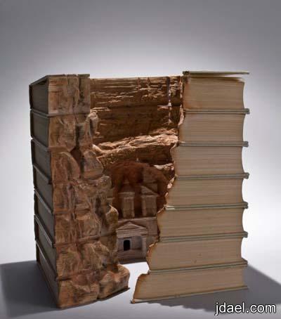 فنون النحت اروع طرق النحت على الكتب صور قمه الابداع